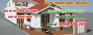 Giấy phép xây dựng nhà ở, gara tại Tân Đông Hiệp Dĩ An Bình Dương