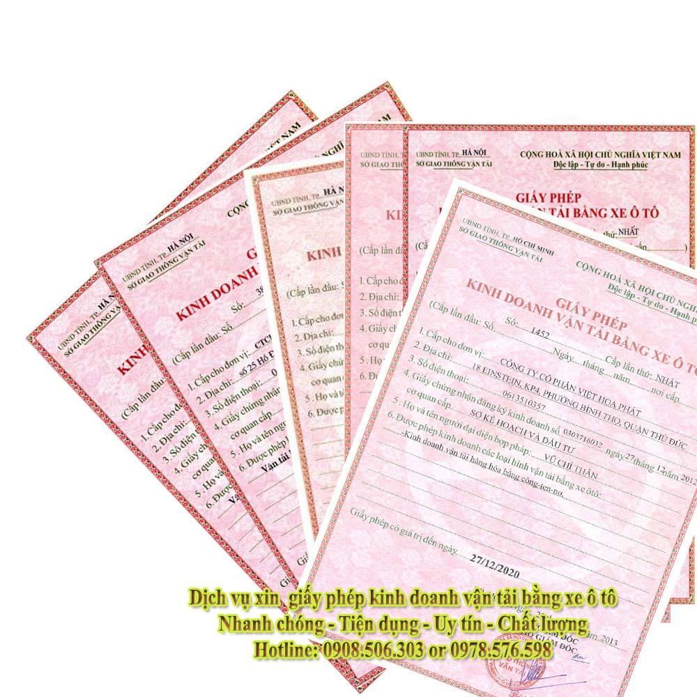 Xin giấy phép kinh doanh vận tải tại Thuận An Bình Dương