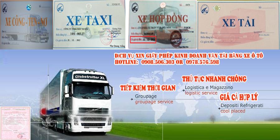 Dịch vụ xin giấy phép kinh doanh vận tải Bình Dương