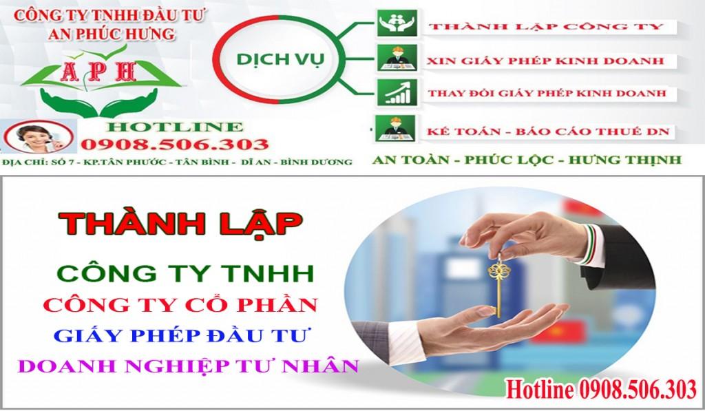 Dịch vụ thành lập công ty tại Thuận An Bình Dương giá rẻ
