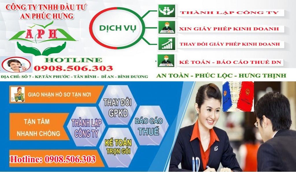 Xin giấy phép kinh doanh Thuận An, Dĩ An, Thủ Dầu Một, Tân Uyên, Bến Cát