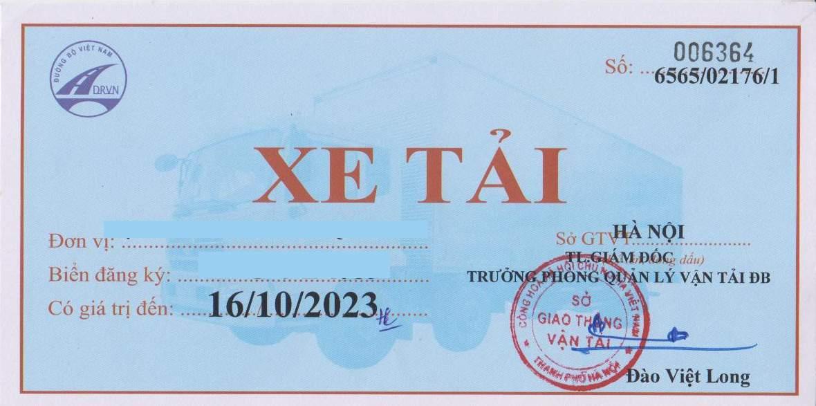 phù hiệu xe tải tại Đồng Nai