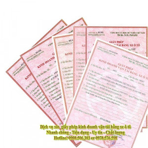 Dịch Vụ Xin Giấy Phép Kinh Doanh Vận Tải Tại Quận 12