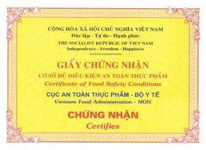 Dịch Vụ Xin Giấy Phép VSATTP Tại Thủ Dầu Một
