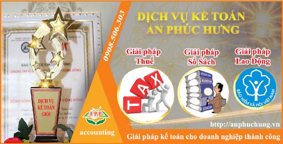 Dịch vụ kế toán tại Thuận An tỉnh Bình Dương