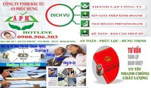 Dịch vụ xin giấy phép kinh doanh tại Dĩ An