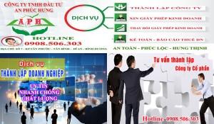 Dịch vụ thành lập công ty tại Dĩ An trọn gói