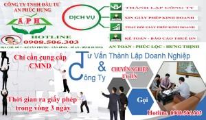 Thành lập công ty Tân Uyên Tư vấn nhiệt tình