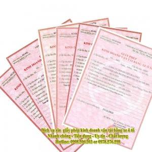 Xin Giấy Phép Kinh Doanh Vận Tải Tại TP Hồ Chí Minh