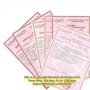 Dịch Vụ Xin Giấy Phép Kinh Doanh Vận Tải Quận 12