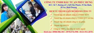 Dịch vụ mở chi nhánh công ty tại Dĩ An Thuận An