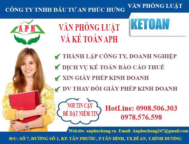 Thành lập công ty tại Thuận An Bình Dương