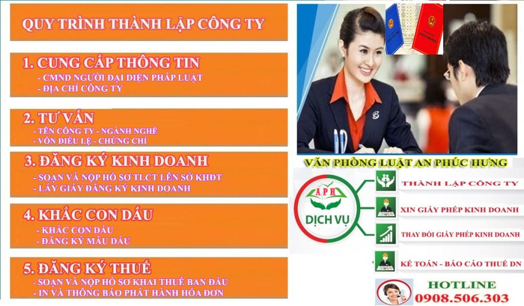 Dịch vụ thành lập công ty tại Thuận An uy tin - LH 0908.506.303