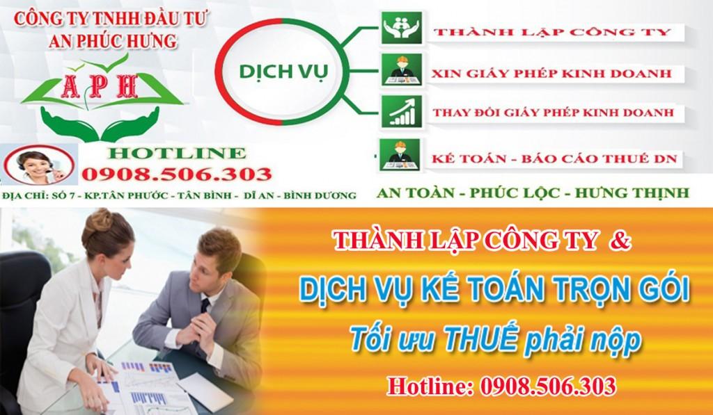 Thành lập công ty buôn bán vật liệu xây dựng tại Dĩ An Thuận An