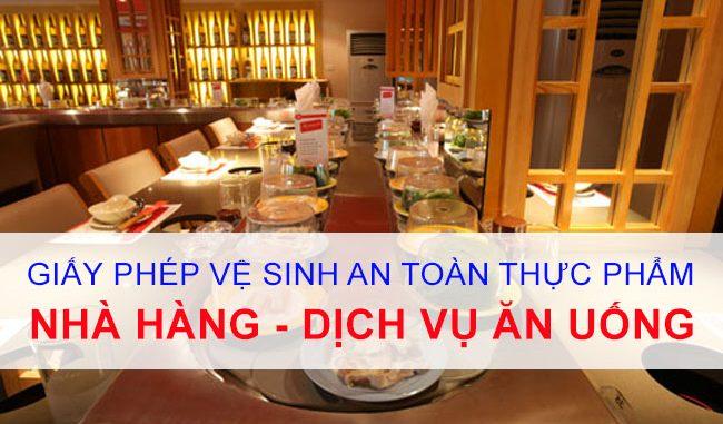 Dịch vụ xin cấp giấy phép vsattp tại Thuận An