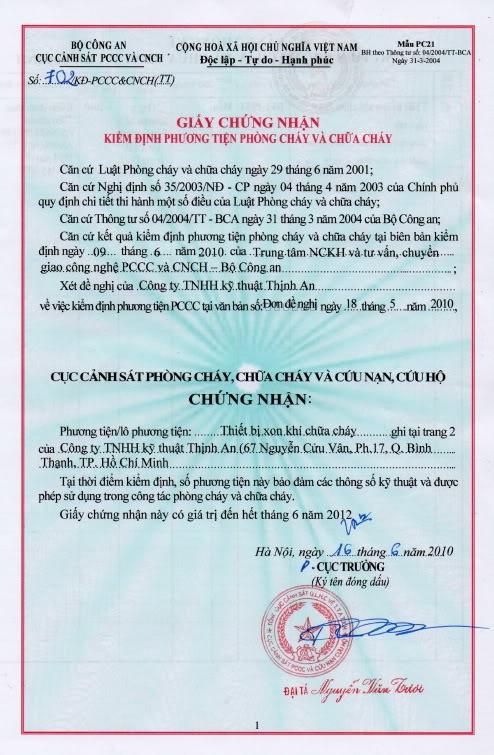 Chuyên xin giấy phòng cháy chữa cháy tại Dĩ An Bình Dương