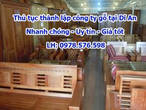 Thành lập công ty buôn bán gỗ, nội thất tại Dĩ An Bình Dương