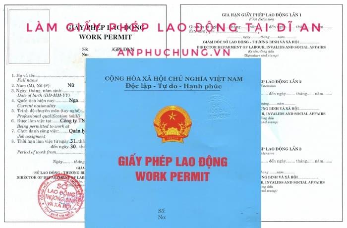 dịch vụ làm giấy phép lao động tại Dĩ An