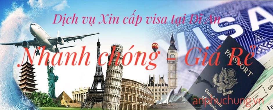 làm visa tại dĩ an bình dương