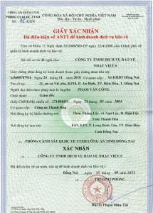 Xin giấy chứng nhận đủ điều kiện an ninh trật tự