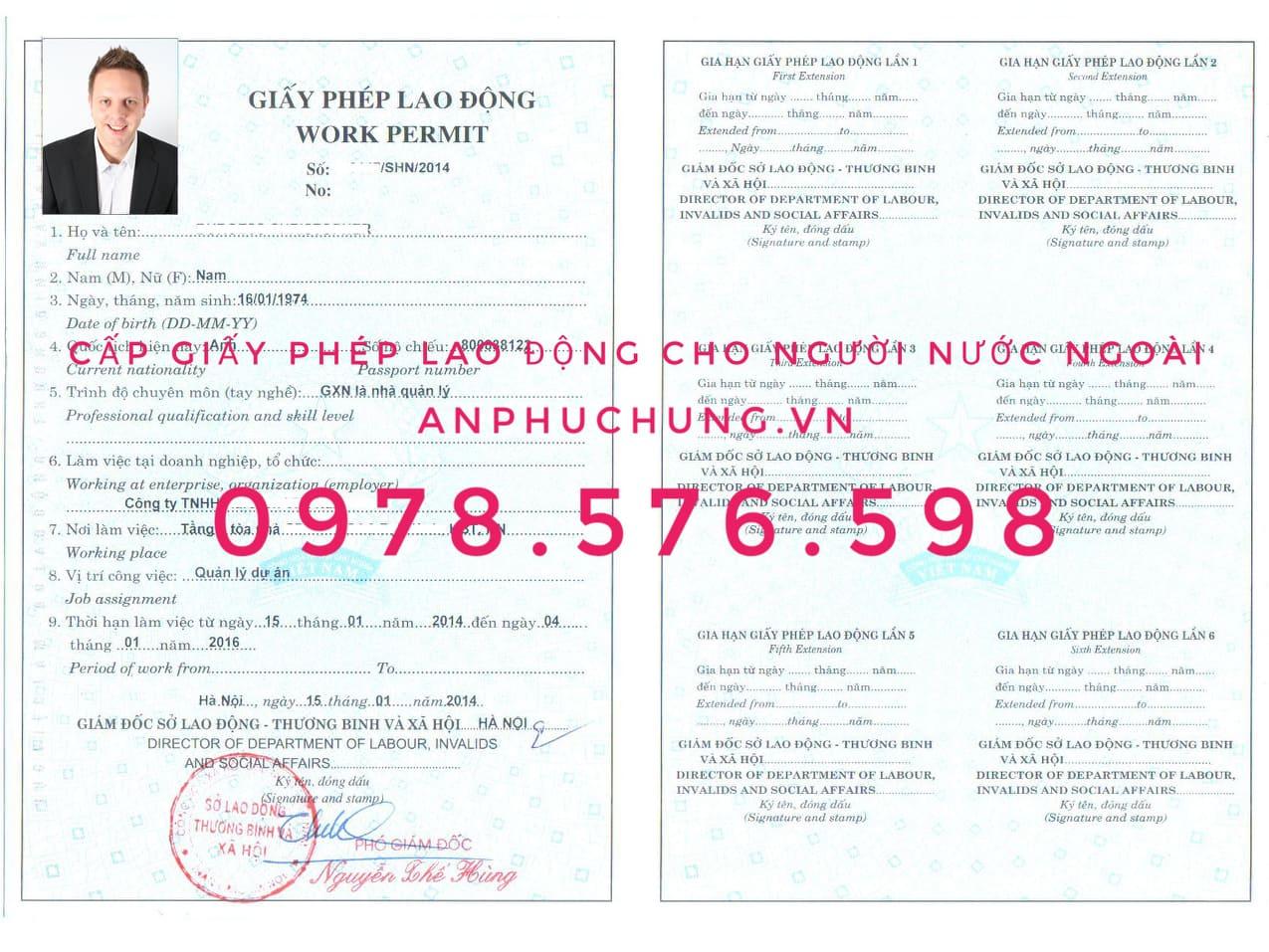 xin giấy phép lao động tại Bình Dương