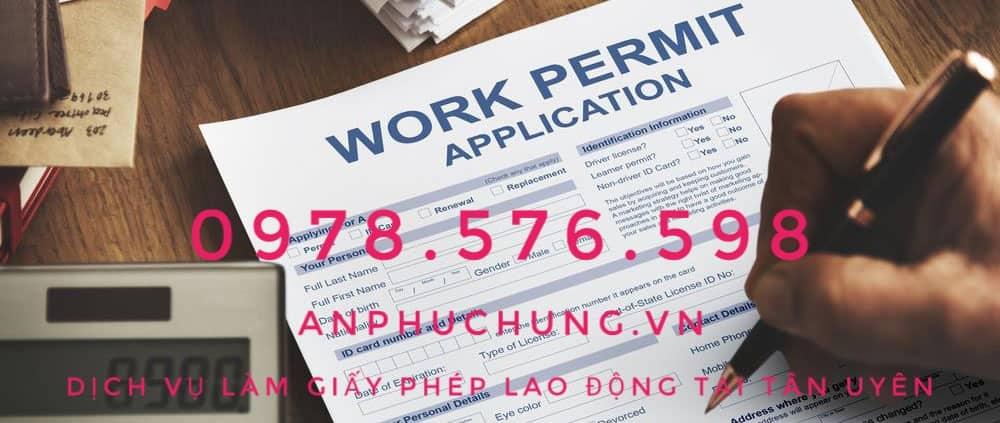dịch vụ làm giấy phép lao động tại tân uyên