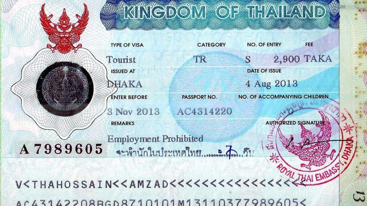 visa đi thái lan